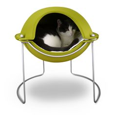 The Pod Cat Bed offers the security of a mountaintop cave with way more style. It serves as your pet's own personal sanctuary - a perfect place for curling up to snooze, hide, or reign supreme. $110.00
