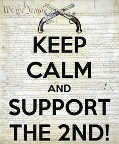 Totally support OUR 2nd Amendment