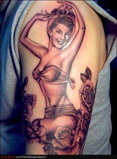 pin up girl tattoos | Tatto design of Pin Up Tattoos pinup - TattooDesignsIdeas.in
