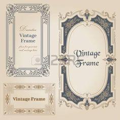 Vintage-Rahmen und Design-Elemente - mit Platz f�r Ihren Text photo
