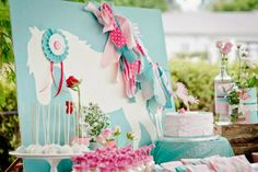 Party Inspirations: PINK AND TEAL PONY THEMED BIRTHDAY PARTY BY PIXIE PERFECT CHILDRENS PARTIES & EVENTS