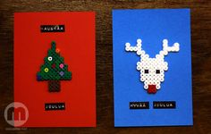Christmas cards hama beads