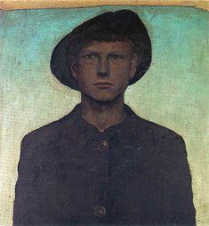 Self-Portrait with Wanderhut - Otto Dix http://www.wikipaintings.org/en/otto-dix/self-portrait-with-wanderhut