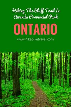 Hiking in Awenda Provincial Park, Ontario - only 2 hr north of Toronto is especially good in summer and fall. The park is on the Georgian Bay Ontario Provincial Parks, Ontario Parks, Road Trip Destinations, Visit Canada, Travel Oklahoma, New York Travel, Canada Travel, Thailand Travel, Hiking Trails