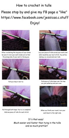Helpful info for making tutus. How to make tutu, tutu dress. crochet tutu dress, diy tutu