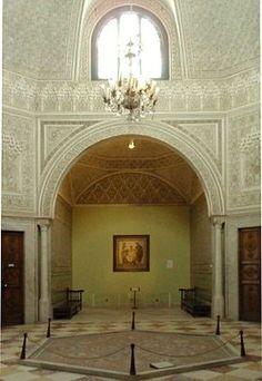 Appartements du bey avec la mosaïque de Virgile qui a donné son nom à la salle Musée national du Bardo المتحف الوطني بباردو
