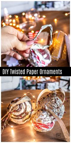 Learn how to make these simple yet chic Paper Twisted Ornaments using items from @JoAnn/_Shop ! #ad #diyornaments #paperornaments #HandmadewithJOANN Gold Christmas Tree, Homemade Christmas Gifts, Homemade Crafts, Christmas Crafts For Kids, Simple Christmas, Handmade Christmas, Diy Christmas, Merry Christmas, Christmas Decorations