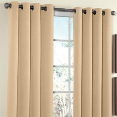 Amazon.com - Brylanehome Charlotte Thermal Grommet Panel - Window Treatment Sets