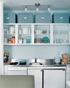 Everyday inspiration for keeping your kitchen clutter-free, plus Martha Stewart's own kitchen organizing ideas.