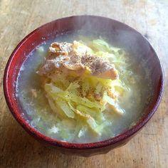 キャベツと塩豚のかき玉スープ。とても優しい春の味です♬(笑) - 86件のもぐもぐ - 糖質制限ダイエットな朝ごはん‼︎ 16 February by giacometti1901