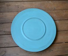 Lazy Susan Turntable Turquoise Blue Aqua Shabby by LittlestSister, $25.00