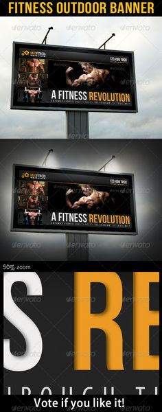 Fitness Outdoor Billboard Banner Template PSD. Download here: http://graphicriver.net/item/fitness-outdoor-banner-11/7101561?s_rank=262&ref=yinkira