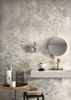 Wabi Sabi interior decor - the latest wall finishes trends - raw scratched walls