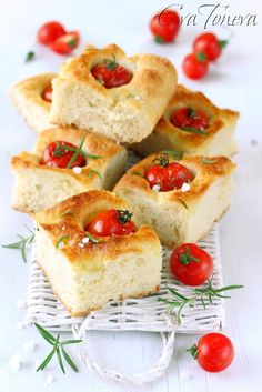 . Focaccia bread with cherry tomato and oregano ♥ aa
