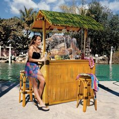 online shopping for Madison Collection Tiki Bar W/ 2 Stools Frt-Nr from top store. See new offer for Madison Collection Tiki Bar W/ 2 Stools Frt-Nr Outdoor Patio Bar Sets, Outdoor Fun, Outdoor Living, Outdoor Decor, Tall Stools, Glass Rack, Thatched Roof, Faux Bamboo, Bars For Home