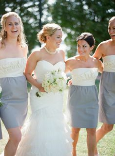 two tone bridesmaid dresses {Photography The McCartneys} #bridesmaids