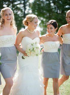 two tone bridesmaid dresses {Photography The McCartneys} #bridesmaids