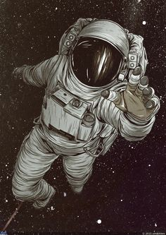 Astronaut art Mais If you are a laser light weekend enthusiast, or perhaps astronomy enthusiast, Art Pop, Astronaut Tattoo, Astronaut Drawing, Art Tumblr, Wow Art, Grafik Design, Vincent Van Gogh, Art Drawings, Art Sketches