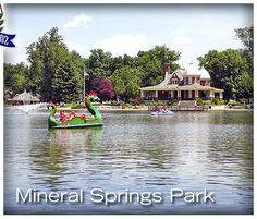 Pekin Park District, Pekin, Illinois • Mineral Springs Park and Lagoon