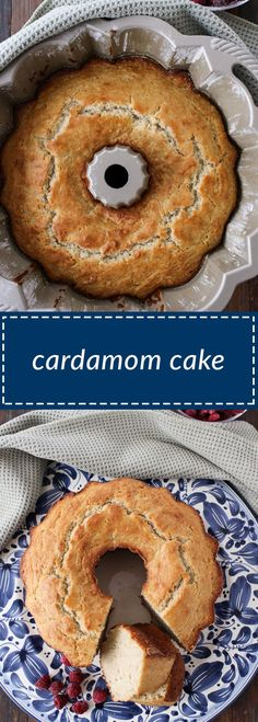 cardamom cake is easy to make and delicious. the cardamom flavor shines through but is not overwhelming. yogurt helps to lighten the cake. Sweet Recipes, Cake Recipes, Dessert Recipes, Bread Recipes, Bunt Cakes, Cupcake Cakes, Cupcakes, Fun Desserts, Delicious Desserts
