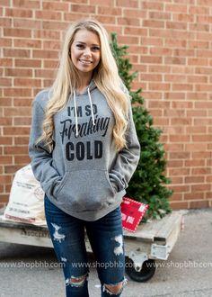 Im So Freaking Cold Hoodie   Deep Heather Gray 3719