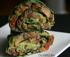 Fiesta Black Bean & Avocado Vegan Wrap