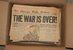 A Box Full of Old Newspapers With Historical Headlines - Laughterizer