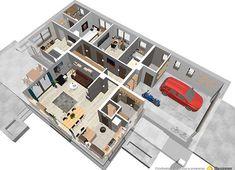 Projekt domu Bianka 114,50 m² - koszt budowy - EXTRADOM Cottage Plan, House Plans, Sweet Home, Photo Wall, How To Plan, Frame, Home Decor, Home Plans, Home