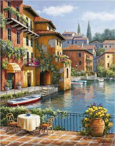 Cafe at the Canal by Sung Kim