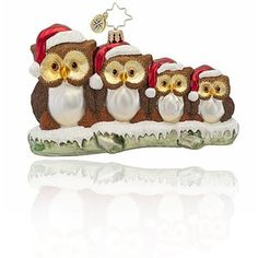 L. - Christopher Radko Owl Family Ornament