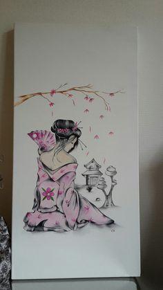 Japanese Tattoos 526499012673033861 - Geisha huile sur toile Source by evelynedinquer Geisha Drawing, Geisha Art, Japanese Geisha Tattoo, Japanese Tattoos, Sketch Tattoo Design, Geisha Tattoo Design, Geisha Tattoos, Japon Illustration, Japanese Prints