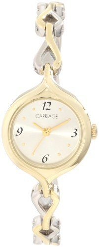 Carriage Women's C3C227 Two-Tone Round Case Silver-Tone Dial Two-Tone Jewelry Bracelet Watch Carriage by Timex. $21.92. Round. Analog-display. Fashion-style. Polished-finish. Arabic-numeral-display. Save 27% Off!