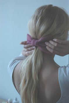 perfectly perfect ... low scooped back and low ponytail and cloth bow