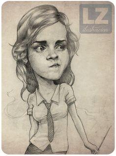 LZ Ilustración: Caricatura Hermione (Harry Potter)