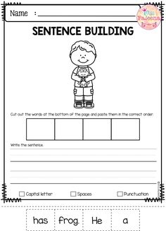 March Sentence Building has 30 pages of sentence building worksheets. This product will teach children to read, write and build sentences. Children are encouraged to use thinking skills while improving their comprehension and writing skills. Kindergarten | Kindergarten Worksheets | First Grade | First Grade Worksheets | Sentence Building | Sentence Building Worksheets |Sentence Building Printables
