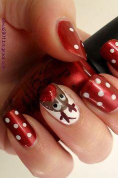 The Christmas Edit: Christmas Nail Designs Christmas Shellac Nails, Shellac Nail Art, Christmas Nail Art, Holiday Nails, Christmas Toes, Elegant Nail Designs, Holiday Nail Designs, Winter Nail Designs, Cute Nail Designs