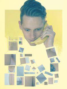 yellow collage banana  by: Kristýna Hrdličková