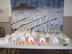 IOST Hajj Experience:Mina Mural by Sr.Ann' Figures by Sr.Badria, tent city by TCA