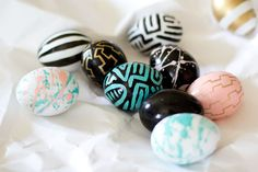 These are some of the fanciest Easter Eggs I've ever seen...  www.whitefence.com