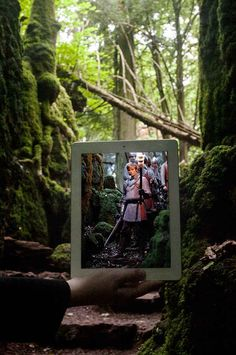 Merlin : Puzzlewood, Forest of Dean, UK | 10 Flawlessly Nerdy Photo-In-Photo Shots