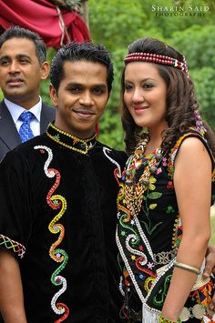 traditional costume of the Murut in Malaysia