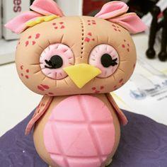 Fondant Girl Owl
