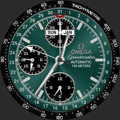 Spdmaster teal watch face preview