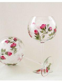 Painted Wine Glasses | Hand Painted Wine Glasses | paint it glass