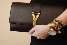 Yves saint Laurent Handbags  - I hate logos on a bag but this is subtle enough… Love the simplicity.