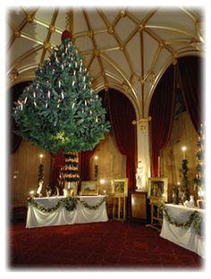 Hanging Victorian Christmas tree