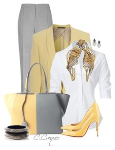 """Work Outfit"" by ccroquer ❤ liked on Polyvore featuring Reiss, rag & bone, Oasis, Steffen Schraut, Alessandra Rich and Fendi"