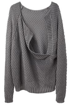 LE PRAIRIES DE PARIS | Le Loose Drape Back Sweater | Shop at La Garçonne