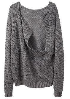 LE PRAIRIES DE PARIS | Le Loose Drape Back Sweater | Shop at La Garçonne