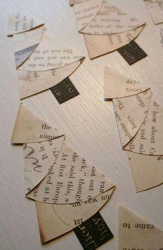 Alberi di Natale di carta per bambini - Alberi con pagine di libri
